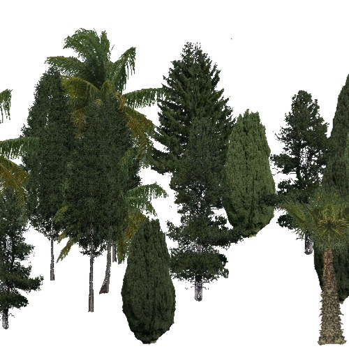 Screenshot of Conifer sparse, very hot, semi-dry