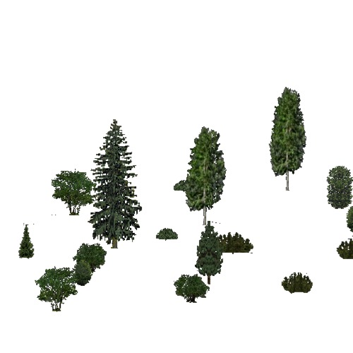 Screenshot of European Forest, Continental, Shrub