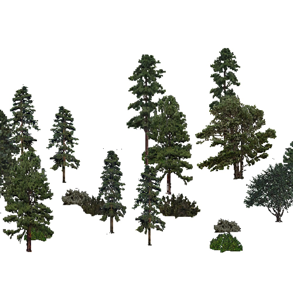 Screenshot of USA Forest, Lower Mississippi Riverine, Evergreen Sparse