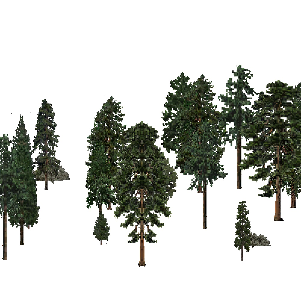 Screenshot of USA Forest, Nevada Utah Mountains, Evergreen Sparse