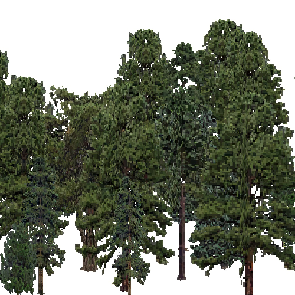 Screenshot of USA Forest, Ouachita, Evergreen Dense