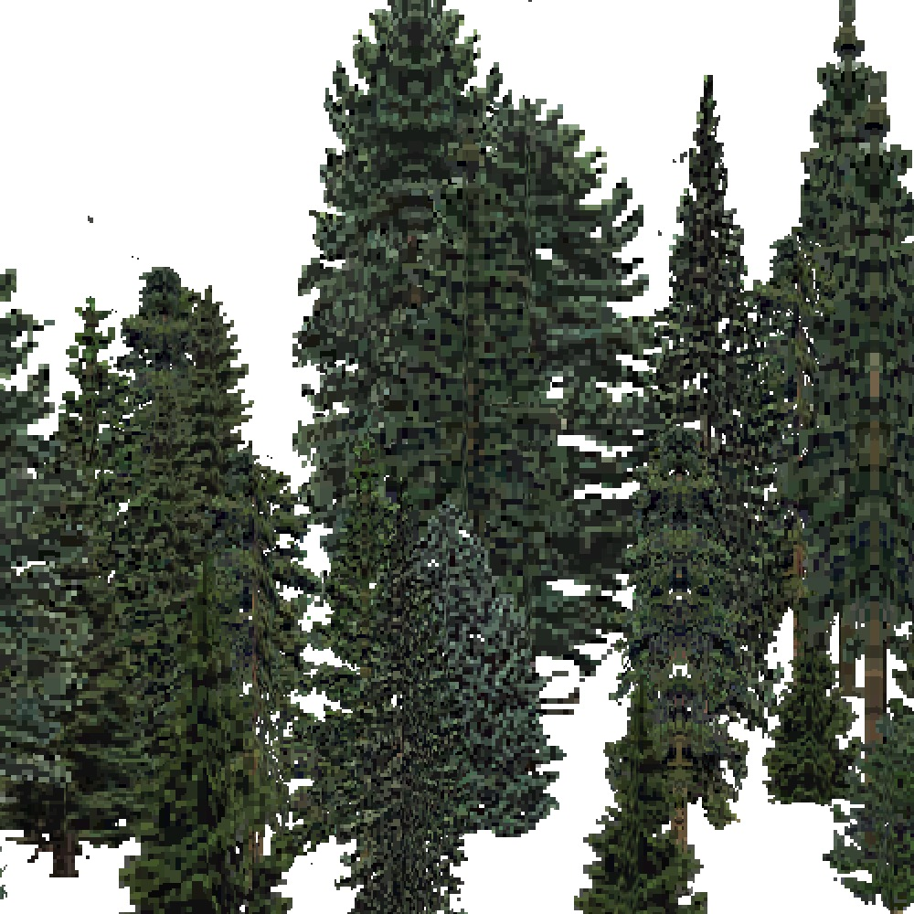 Screenshot of USA Forest, Ozark, Evergreen Dense
