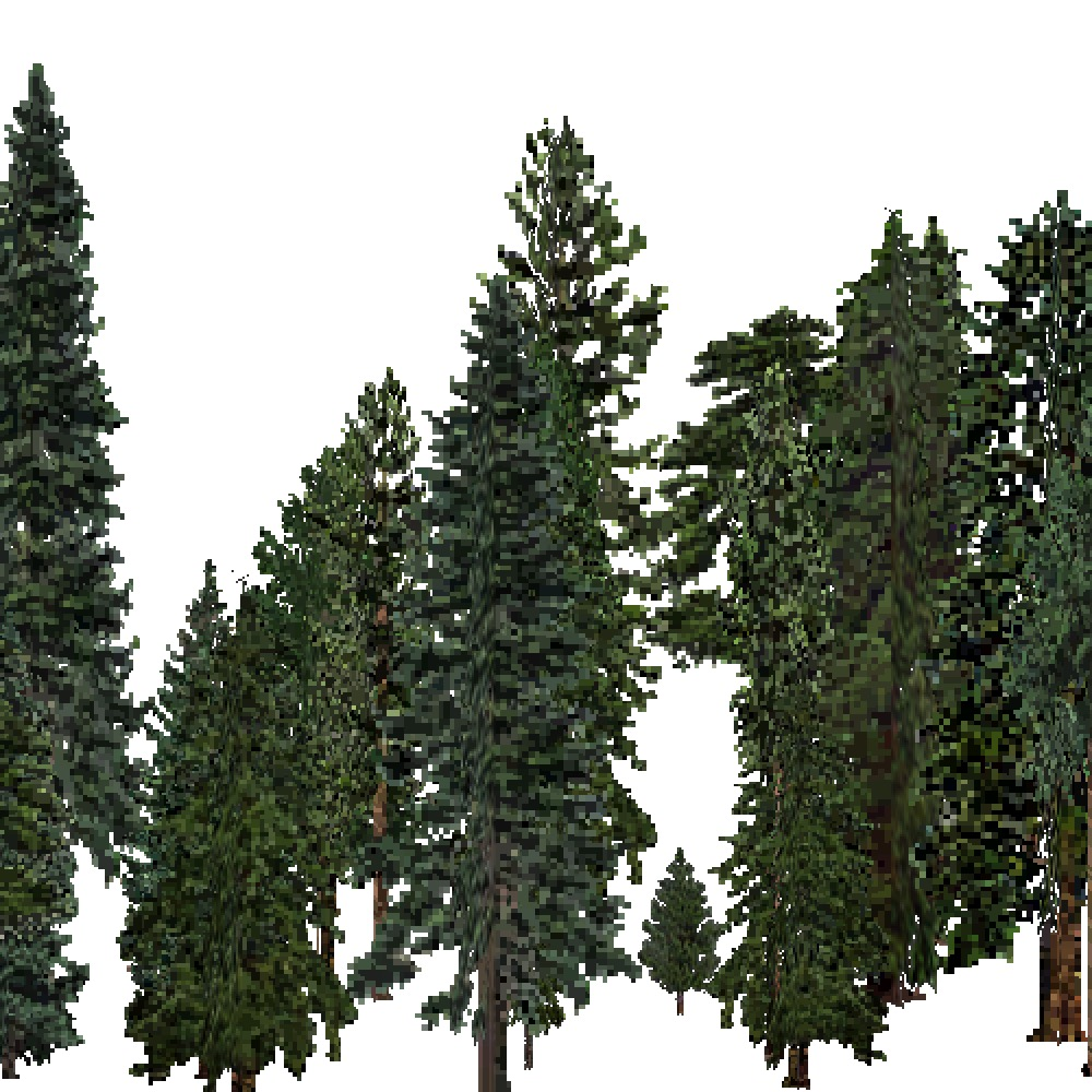 Screenshot of USA Forest, Sierran Steppe, Evergreen Dense