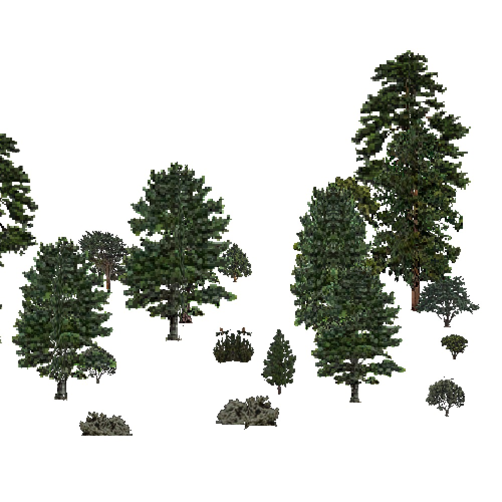 Screenshot of USA Forest, Sierran Steppe Sequoias, Evergreen Sparse