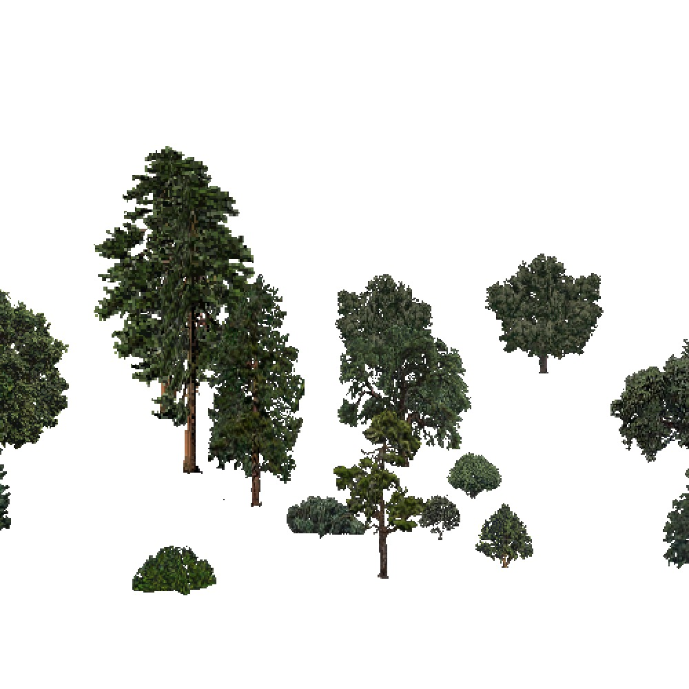 Screenshot of USA Forest, Sierran Steppe Sequoias, Mixed Sparse