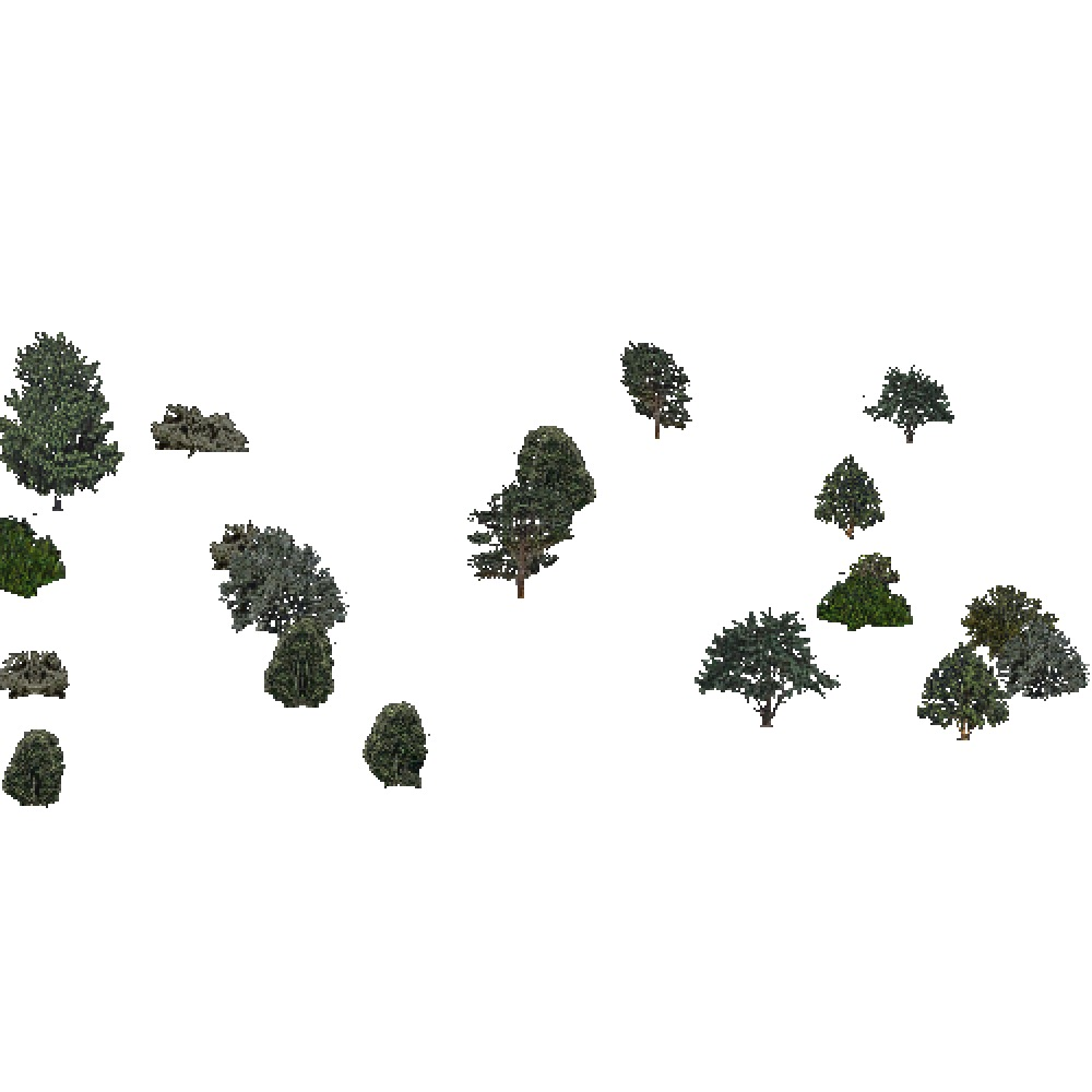 Screenshot of USA Forest, Sierran Steppe Sequoias, Shrub