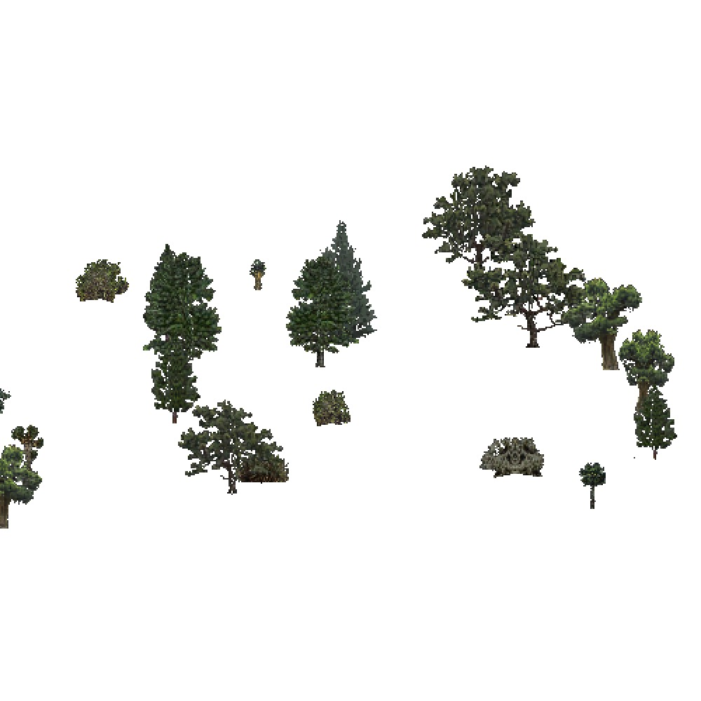 Screenshot of USA Forest, Southwest Plateau And Plains, Evergreen Sparse