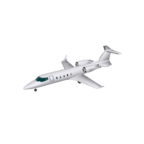 Screenshot of Learjet 60, white