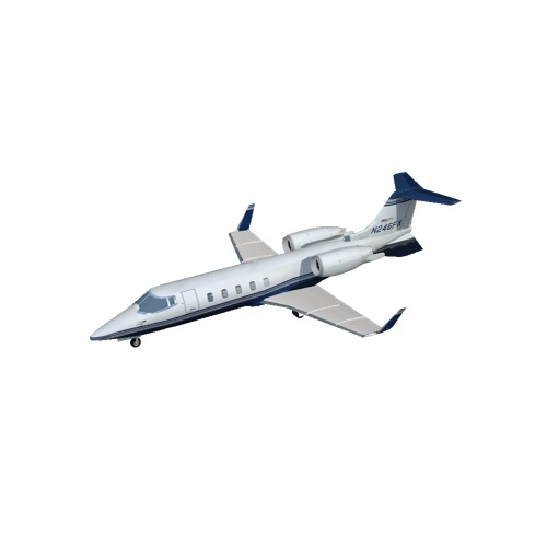 Screenshot of Learjet 60, blue