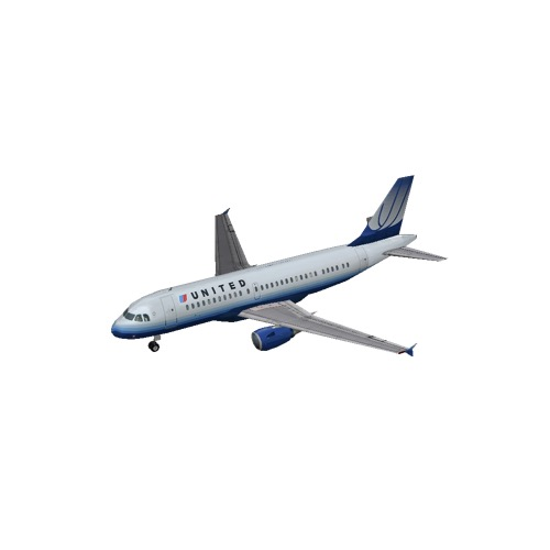Screenshot of A319 United Airlines