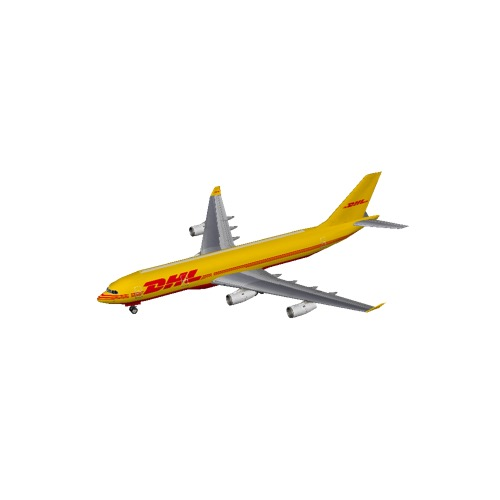 Screenshot of A340 DHL