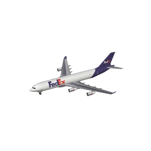 Screenshot of A340 FedEx