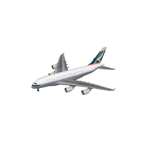 Screenshot of A380 Cathay Pacific