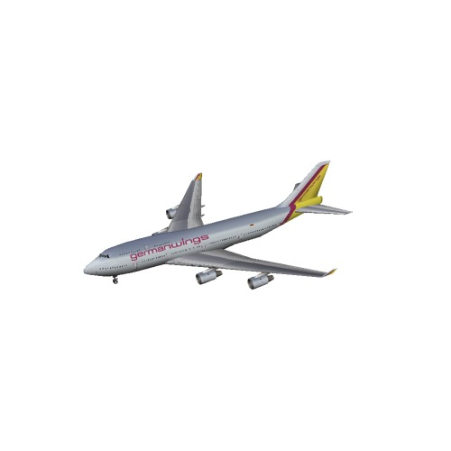 Screenshot of B747-400 Germanwings