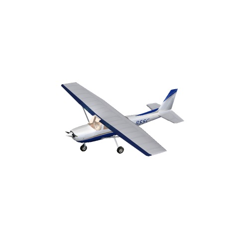 Screenshot of Cessna 150 Blue Variant 2