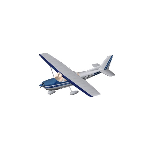 Screenshot of Cessna 172 Blue Variant 1