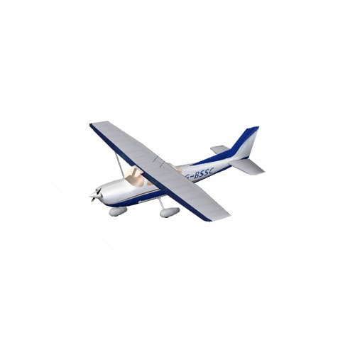 Screenshot of Cessna 172 Blue Variant 2