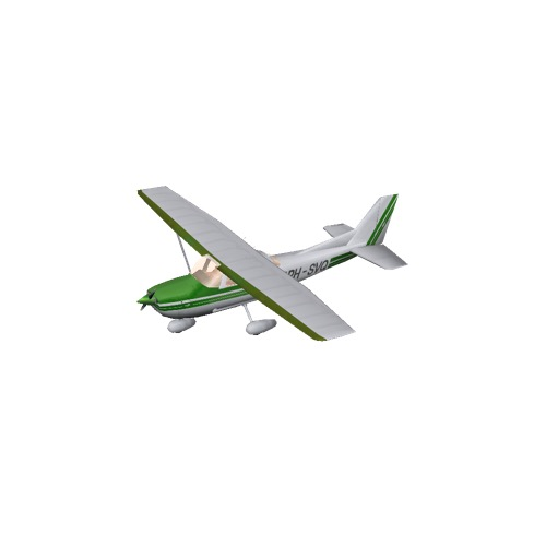 Screenshot of Cessna 172 Green Variant 1