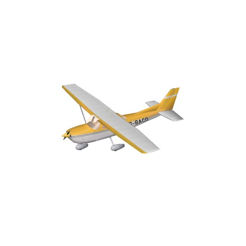 Screenshot of Cessna 172 Yellow Variant 3