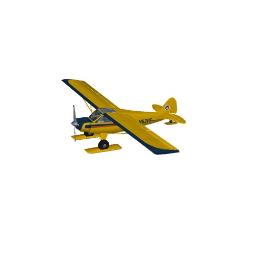 Screenshot of Husky A-1A (yellow, skis)