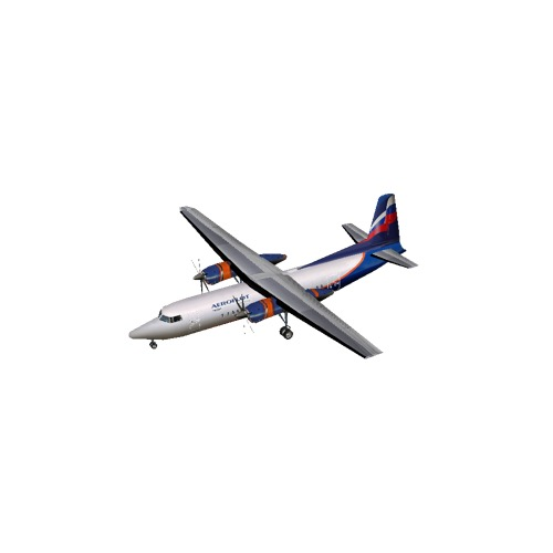 Screenshot of Fokker 50 Aeroflot