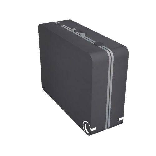 Screenshot of Luggage, black, upright
