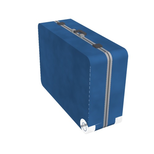 Screenshot of Luggage, blue, upright