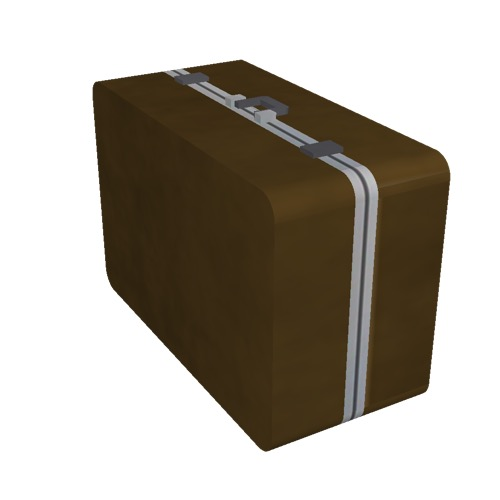Screenshot of Luggage, brown, wide, upright