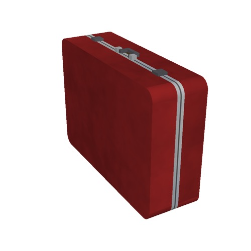 Screenshot of Luggage, red, upright
