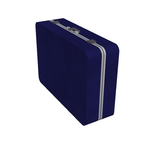 Screenshot of Luggage, dark blue, upright