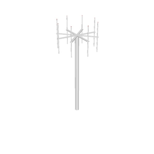 Screenshot of VDF antenna, white pole, white antennae