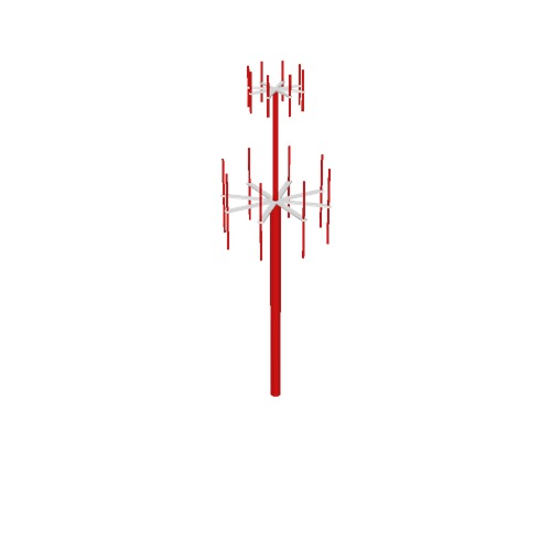 Screenshot of VDF / UDF antenna, red pole, red antennae