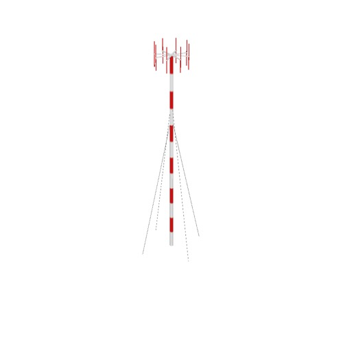 Screenshot of VDF antenna, striped pole, red antennae