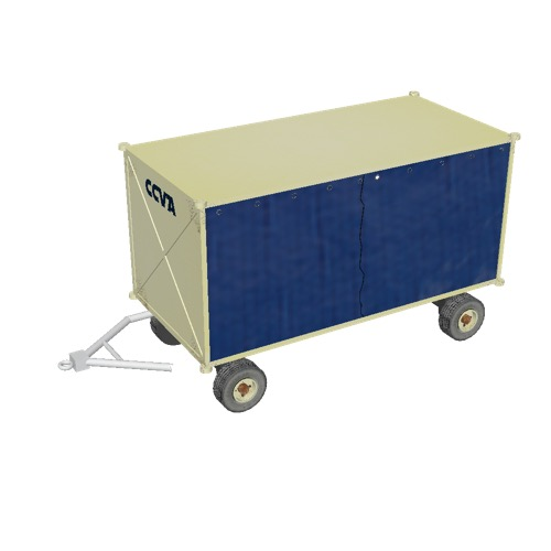 Screenshot of Baggage cart, covered, closed, beige