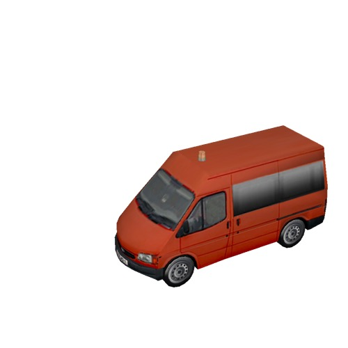 Screenshot of Ford Transit minibus, Red