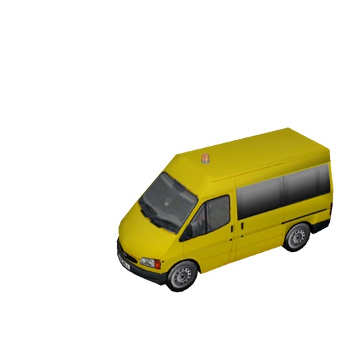 Screenshot of Ford Transit minibus, yellow