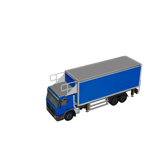 Screenshot of Catering Loader Truck Large, blue, stowed