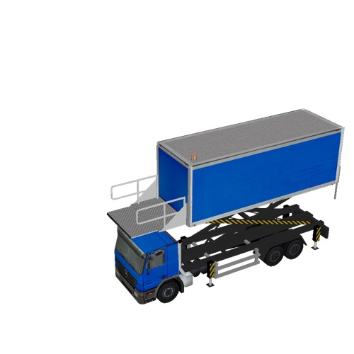 Screenshot of Catering Loader Truck Large, blue, 3.2m