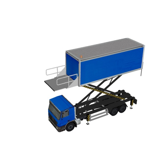 Screenshot of Catering Loader Truck Large, blue, 4.5m