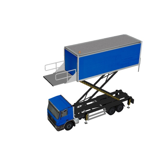 Screenshot of Catering Loader Truck Large, blue, 5.0m