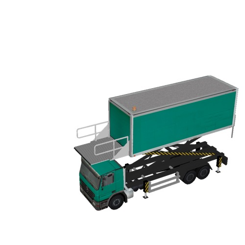 Screenshot of Catering Loader Truck Large, green, 3.2m