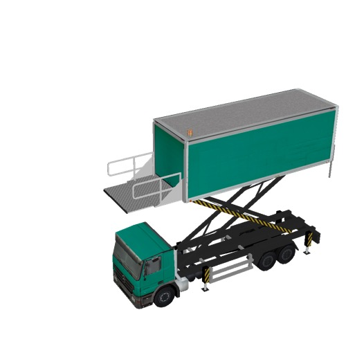 Screenshot of Catering Loader Truck Large, green, 4.5m