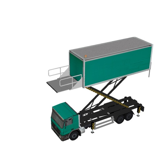 Screenshot of Catering Loader Truck Large, green, 5.0m