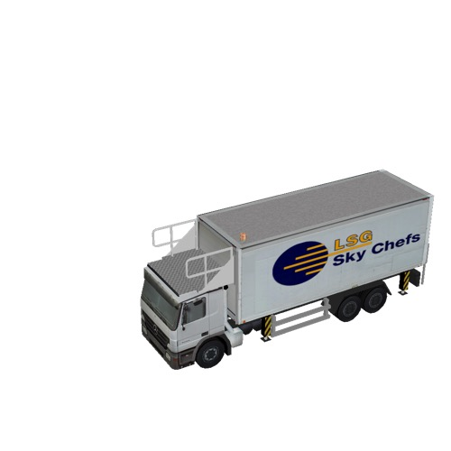 Screenshot of Catering Loader Truck Large, LSG Sky Chefs, stowed