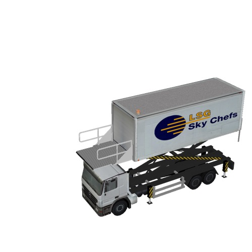 Screenshot of Catering Loader Truck Large, LSG Sky Chefs, 3.2m
