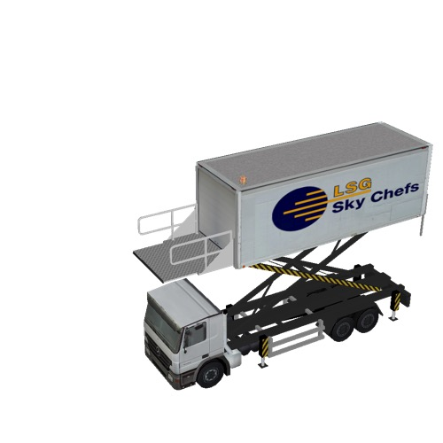 Screenshot of Catering Loader Truck Large, LSG Sky Chefs, 4.0m