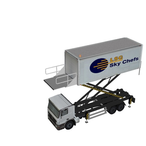Screenshot of Catering Loader Truck Large, LSG Sky Chefs, 4.5m