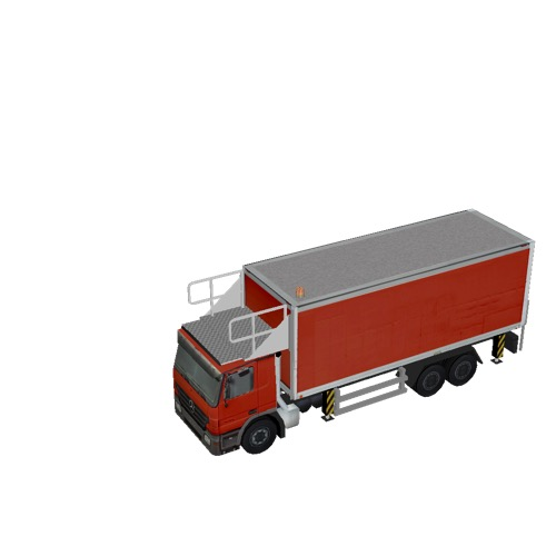 Screenshot of Catering Loader Truck Large, red, stowed