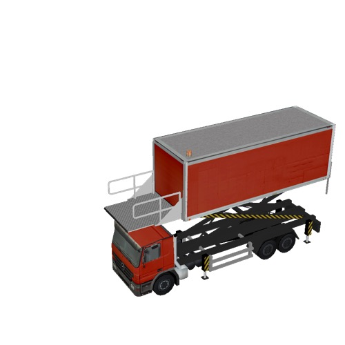 Screenshot of Catering Loader Truck Large, red, 3.2m