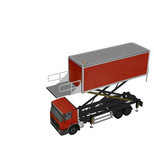 Screenshot of Catering Loader Truck Large, red, 4.0m
